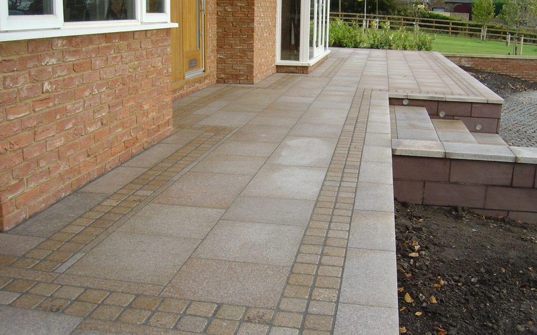 Granite Paving Front Area & Steps, Rainford, Lancashire
