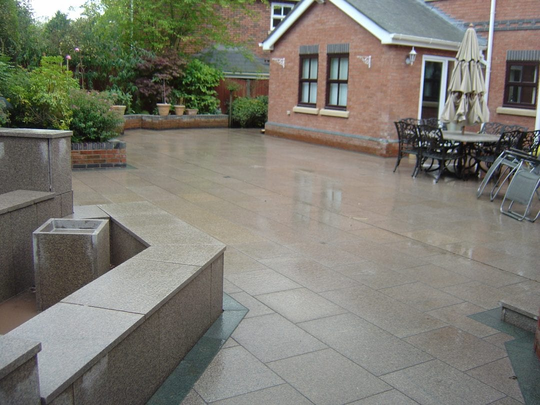 Large Patio area in Granite Paving, The Common, Parbold