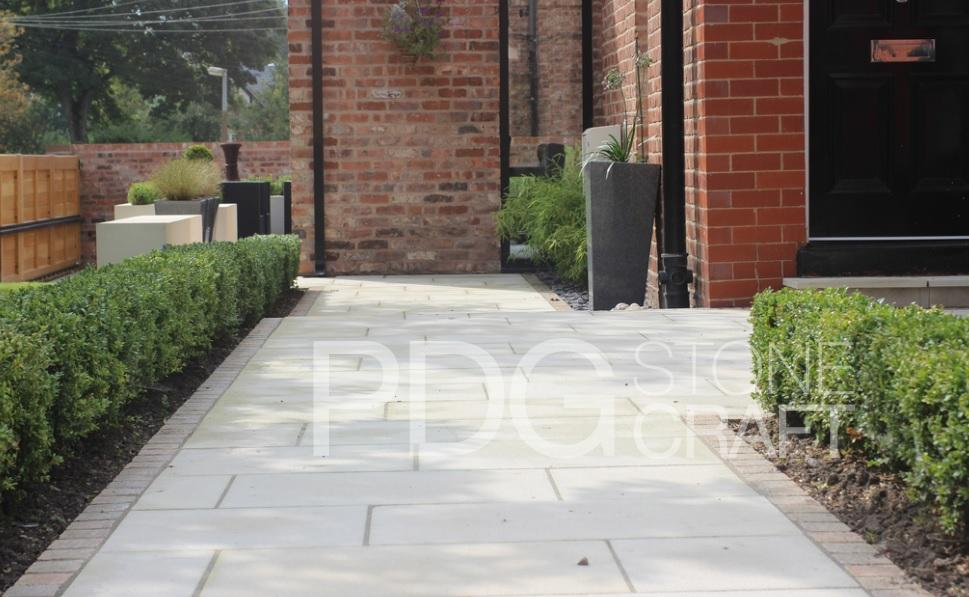 Contemporary Limestone Paving Area, Knutsford.