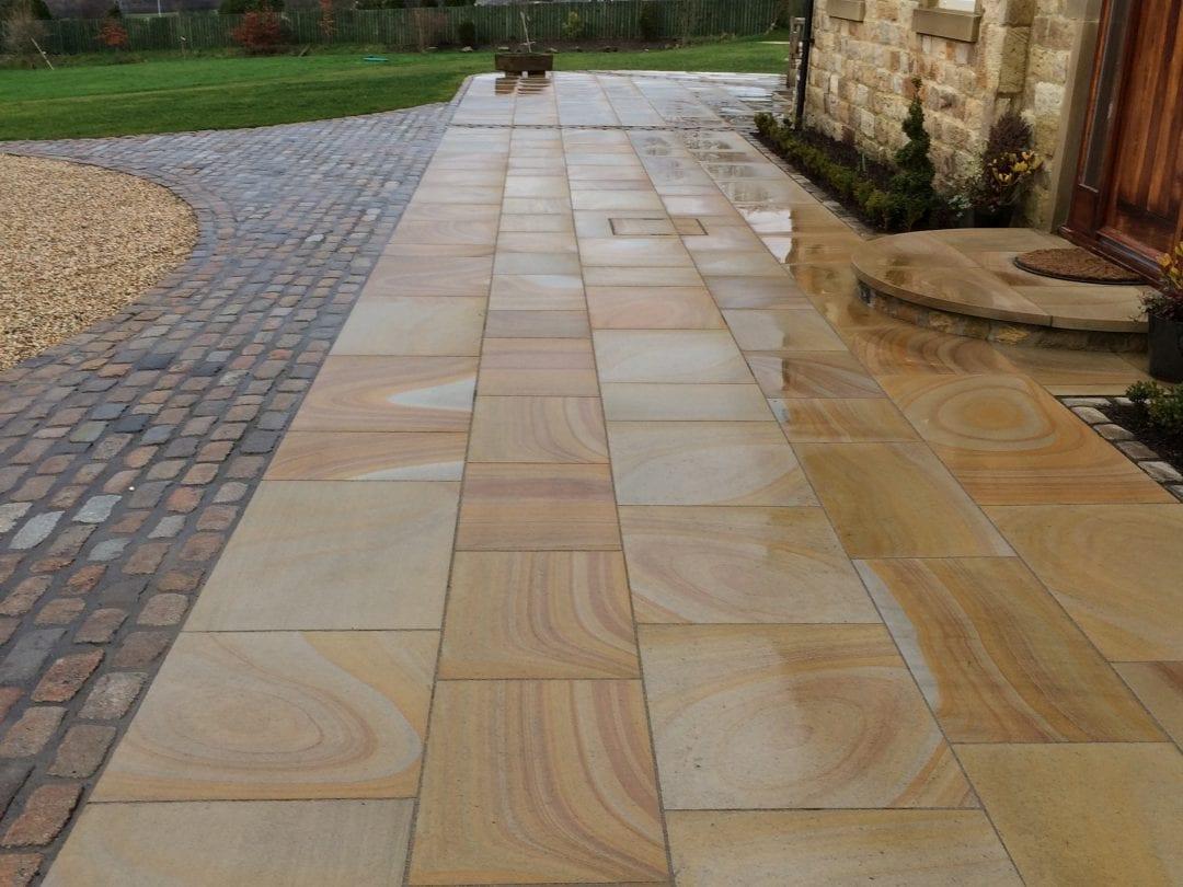 Natural Sandstone Paving & Walling, Barn Conversion, Blackburn, Lancashire