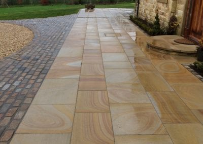Natural Sandstone Paving & Walling, Barn Conversion, Blackburn, Lancashire
